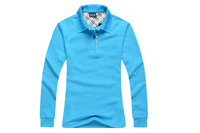 long sleeve knit pique golf T- shirt