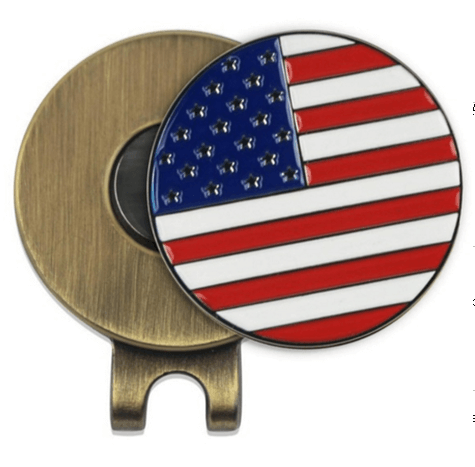usa flag golf cap clips with mark